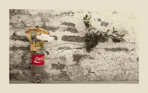 Coke, callas and plant
